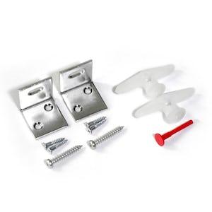 パネルミラー用L字固定金具(2個/1セット)※トグラーアンカー付き