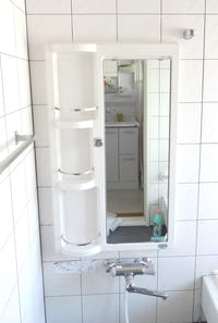 「キャビネット」中の浴室の鏡